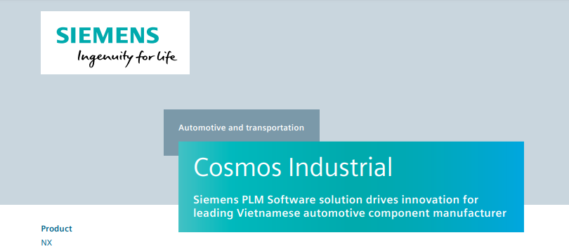 Success Story: Vietbay delivered successfully Siemens NX CAD/CAM to Cosmos Industrial Company
