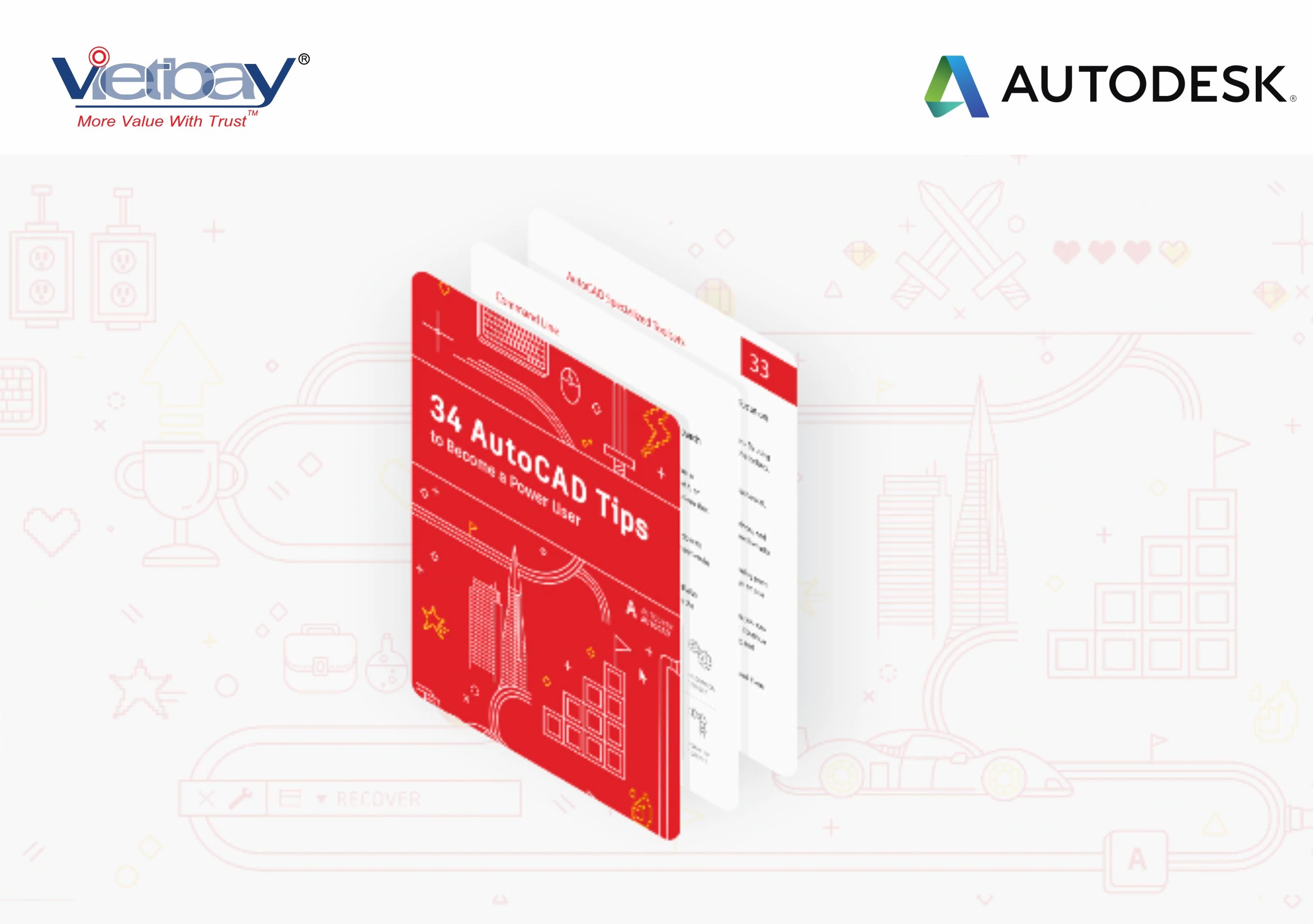 [EBook miễn phí]: 34 Autocad Tips to Become A Power User